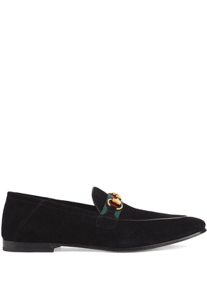 Gucci web detail horsebit loafers - Black