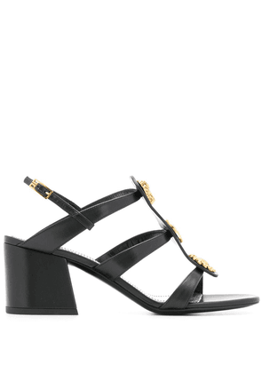 Givenchy button charm caged 70mm sandals - Black