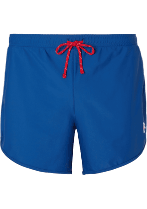 DISTRICT VISION - Spino Slim-Fit Stretch-Shell Shorts - Men - Blue