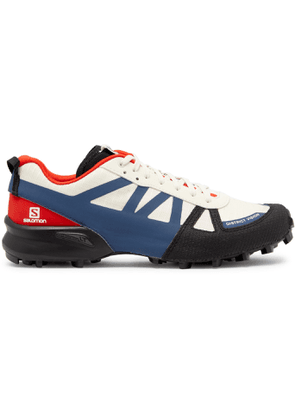 DISTRICT VISION - + Salomon Rubber And Kevlar-trimmed Mesh Sneakers - White