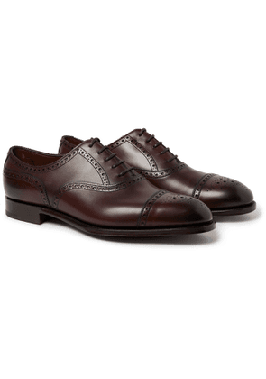 Edward Green - Cadogan Burnished-leather Brogues - Brown