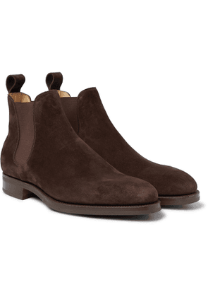 Edward Green - Camden Suede Chelsea Boots - Brown