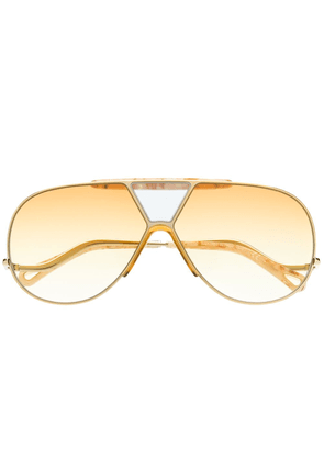 Chloé Eyewear Willis navigator-frame sunglasses - GOLD