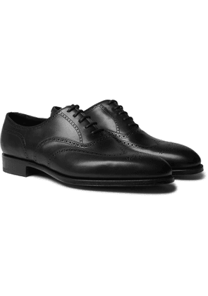 Edward Green - Inverness Leather Wingtip Brogues - Black