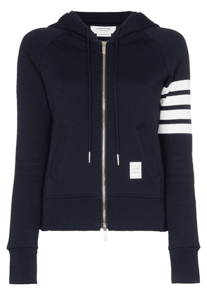 Thom Browne 4-Bar stripe hoodie - Blue