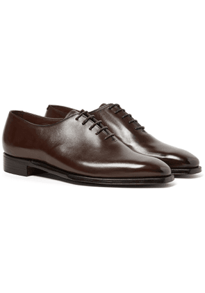 George Cleverley - Alan 3 Whole-Cut Leather Oxford Shoes - Men - Brown