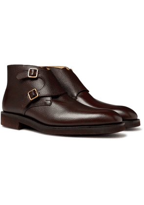 George Cleverley - Fry Full-grain Leather Monk-strap Boots - Brown