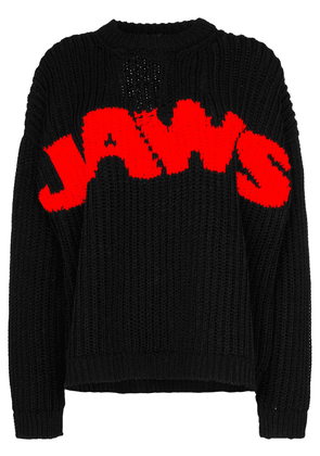 Calvin Klein 205W39nyc Jaws chunky knit jumper - Black