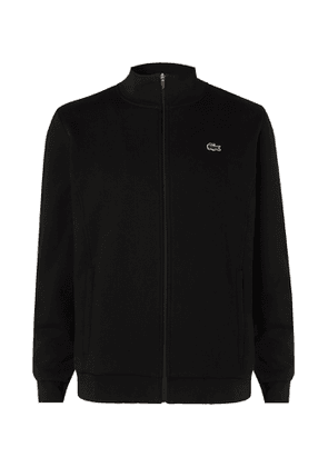 Lacoste Tennis - Logo-embroidered Fleece-back Cotton-blend Jersey Track Jacket - Black