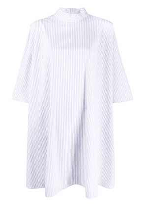 Givenchy oversized pinstriped top - White