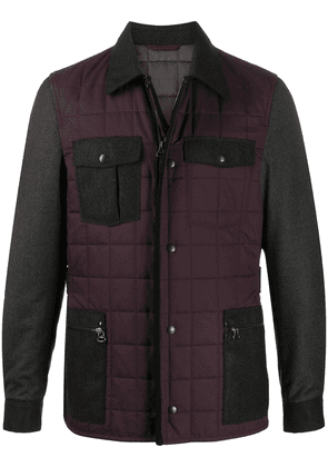 LANVIN quilted long-sleeve jacket - Red