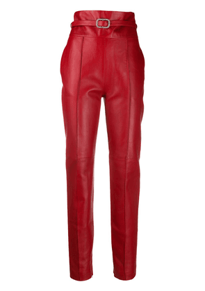 Alexandre Vauthier high-rise skinny trousers - Red