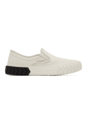 both Off-White Pop Tyres Slip-On Sneakers