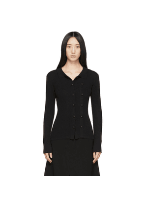 Christopher Esber Black Double-Button Cardigan