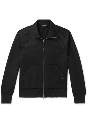 TOM FORD - Tech-jersey Track Jacket - Black
