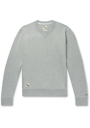 Tracksmith - Trackhouse Mélange Fleece-back Cotton-blend Jersey Sweatshirt - Gray