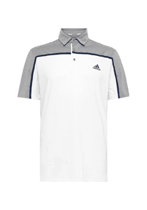 Adidas Golf - Ultimate 365 Colour-block Stretch-jersey Golf Polo Shirt - White