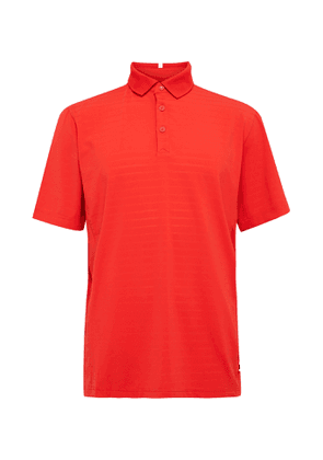 Adidas Golf - Adipure Premium Performance Striped Stretch-jersey Golf Polo Shirt - Red