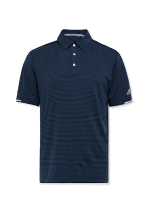 Adidas Golf - Striped Heat.rdy Mesh Golf Polo Shirt - Blue