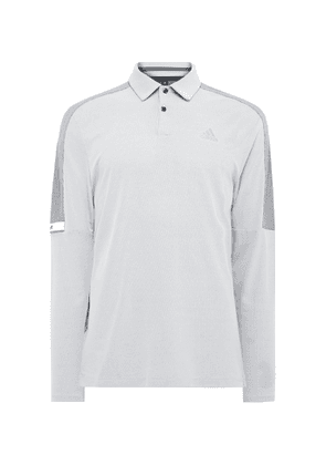 Adidas Golf - Colour-block Mesh Golf Polo Shirt - Gray