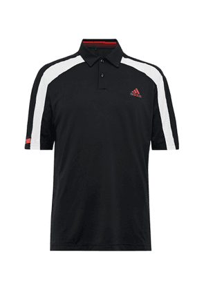 Adidas Golf - Colour-block Heat.rdy Mesh Golf Polo Shirt - Black