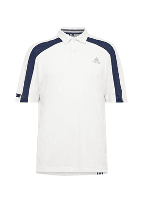 Adidas Golf - Colour-block Heat.rdy Mesh Golf Polo Shirt - White