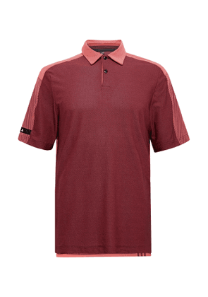 Adidas Golf - Aeroready And Mesh Golf Polo Shirt - Red
