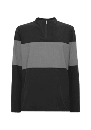 Adidas Golf - Colour-block Stretch-shell And Mesh Half-zip Golf Jacket - Black