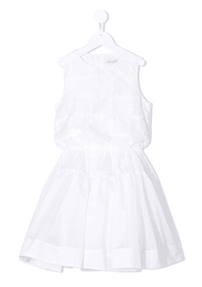 Simonetta floral-appliqué sleeveless dress - 100 BIANCO
