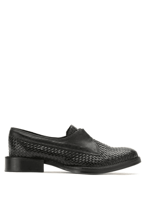 Sarah Chofakian woven-effect loafers - Black