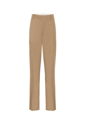 High-rise straight wool pants