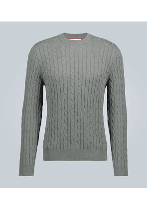 Cable knit cotton sweater