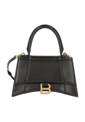 Hourglass top handle bag with strap