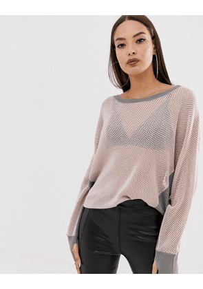 Blanc Noir Flutter Sweater-Grey