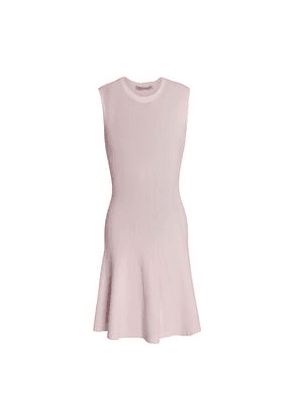 Autumn Cashmere Ribbed-knit Mini Dress Woman Baby pink Size S