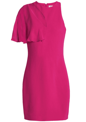 Cushnie Cutout Chiffon-paneled Stretch-crepe Mini Dress Woman Fuchsia Size 0