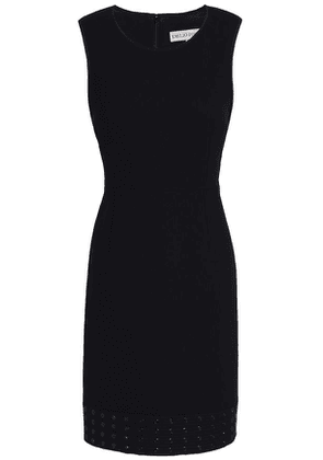 Emilio Pucci Eyelet-embellished Stretch-wool Crepe Mini Dress Woman Black Size 42
