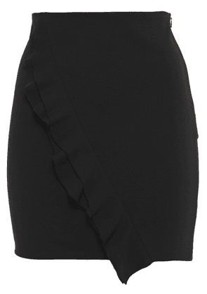 Iro Jipy Ruffled Stretch-crepe Mini Skirt Woman Black Size 38