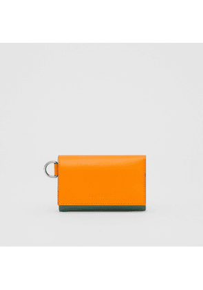 Burberry Small Colour Block Leather Folding Wallet, Orange