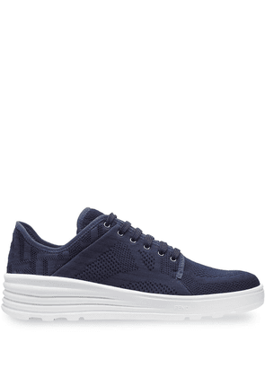 Fendi FF perforated sneakers - Blue
