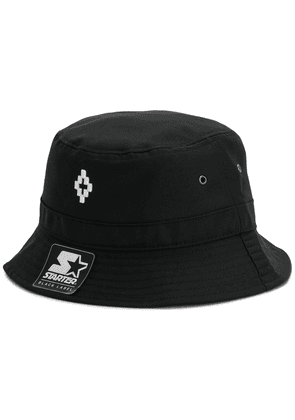 MARCELO BURLON COUNTY OF MILAN embroidered logo bucket hat - Black