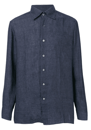 Canali pointed collar shirt - Blue