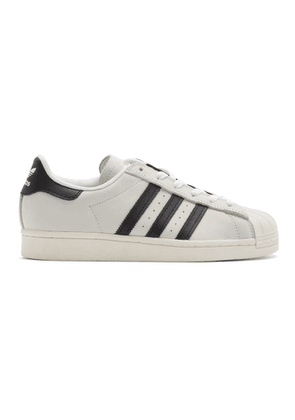 adidas Originals White and Black Superstar Sneakers