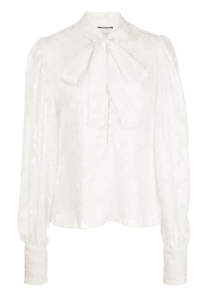 Alexis pussybow long-sleeve blouse - IVORYFLORAL