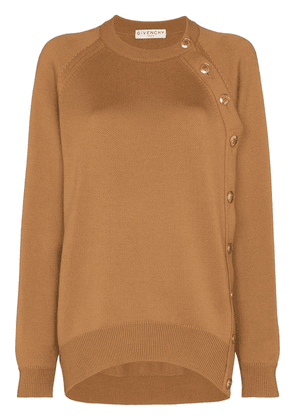 Givenchy button detail slouchy jumper - NEUTRALS