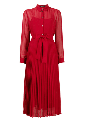 PS Paul Smith pleated midi dress - Red
