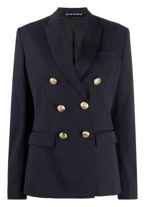 Palm Angels palm-embroidered blazer - Blue