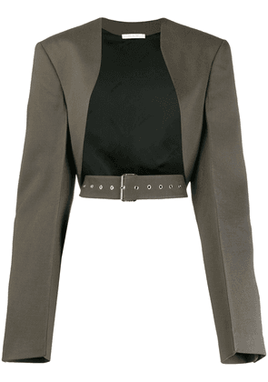 Peter Do belted open front jacket - Grey