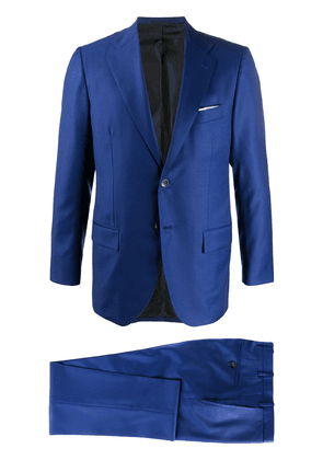 Kiton single-breasted suit - Blue