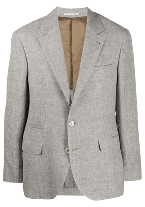 Brunello Cucinelli single-breasted suit jacket - Grey